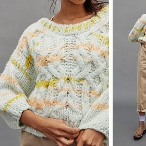 Anthropologie NWT Jojo Cable-Knit Sweater Size MP.